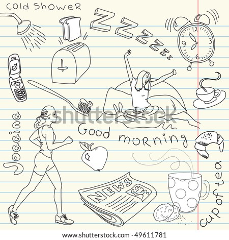 Cute morning doodles