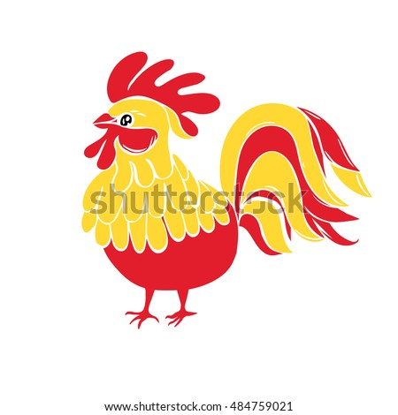 cute new year bird symbol
