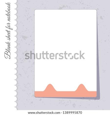cute notebook sheet template