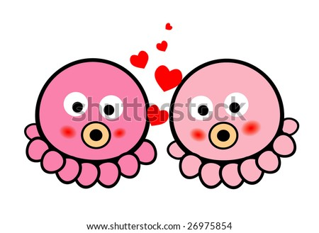 Cute Octopus Logo Cute Octopus Love