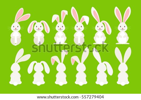 cute ostern rabbit vector