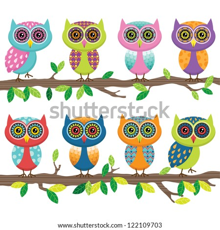 Cute Owl Collection Set