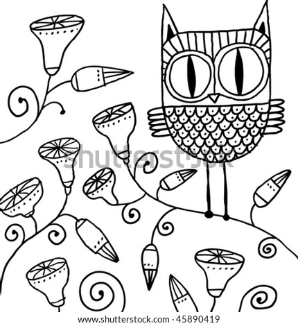 Owl Doodle Drawing Cute Owl Doodle