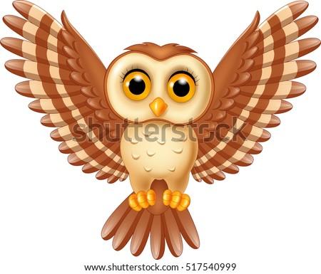 Cartoon owl vectors download free vector art stock graphics cute owl flying voltagebd Images