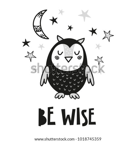 cute owl poster for baby room
