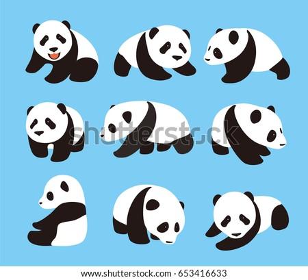 cute panda baby set  flat