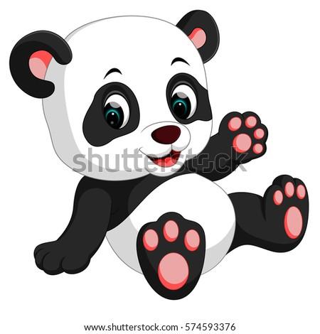 Royalty Free Cute Cartoon Teddy Bear Panda 281248472 Stock Photo
