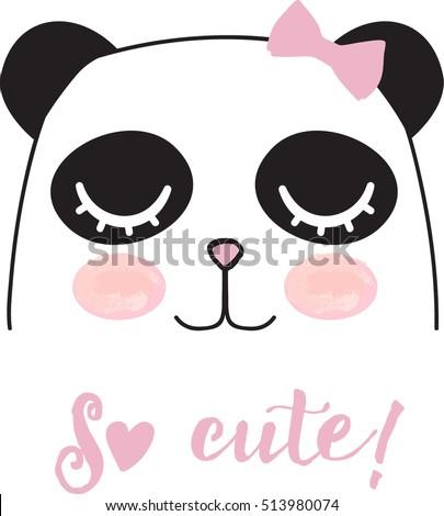 cute panda girl