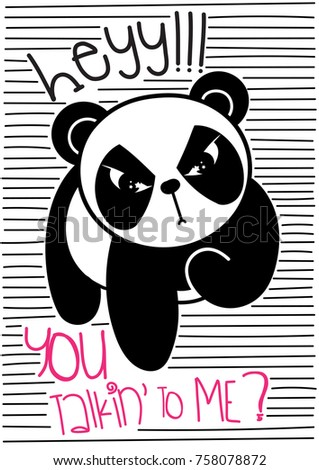 cute panda hey you talking to