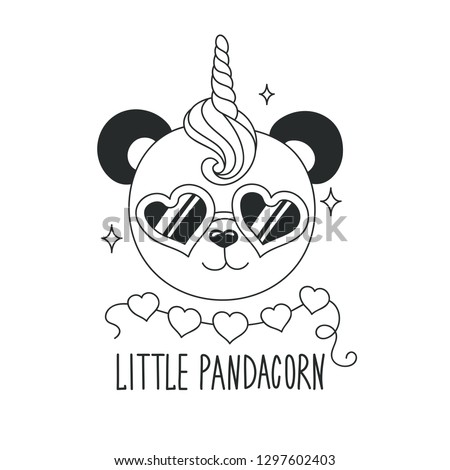 How To Draw A Cartoon Pandacorn Coloring Pages For Kids