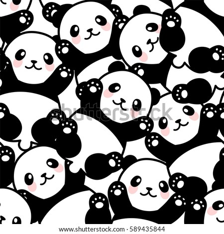 cute panda seamless pattern