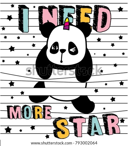cute panda, stripes and panda,I need more star,sweet kids graphics for t-shirts and phone case, also you can use as wallpaper