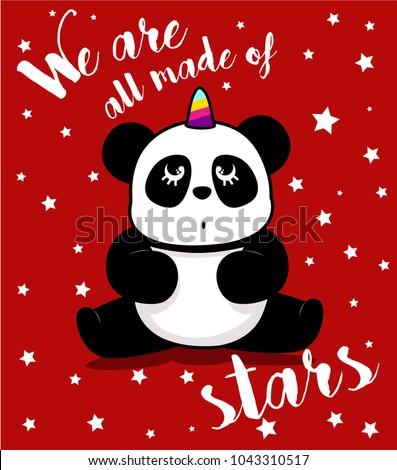 cute panda  sweet character for