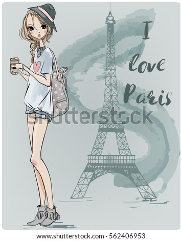 cute parisian girl