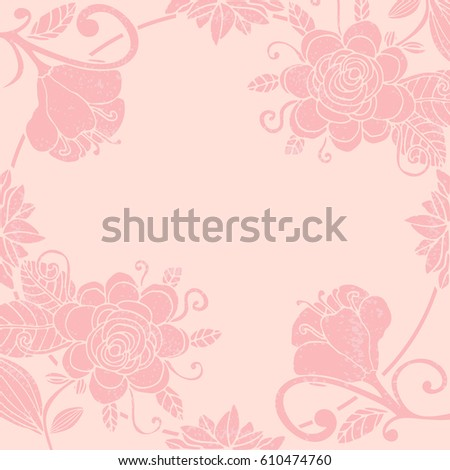 cute pastel floral invitation