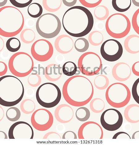 Cute pastel pattern. Seamless texture with rings. Abstract background