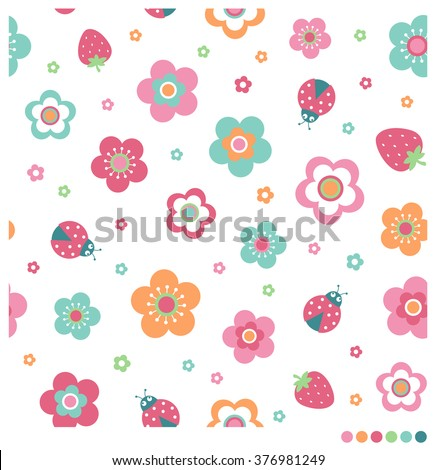 cute pastel seamless vector
