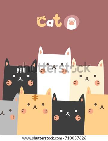 cute pattern cat