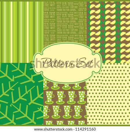 cute pattern set. vector illustration