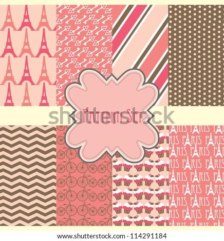 cute pattern set. vector illustration