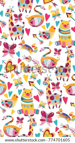 cute pattern with colorful