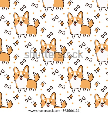 cute pattern with dog breed