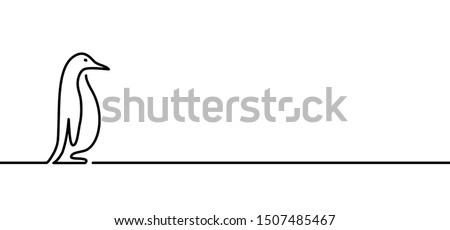 Cute penguin bird line pattern animal symbol  animals symbols silhouette vector logo icon icons sign fun funny Penguins ice draw drawing cartoon art birds Emperor Gentoo Adelie penguins charact pencil
