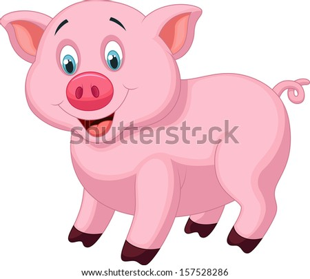 Cute pig cartoon #157528286