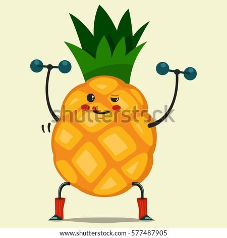 cute pineapple cartoon