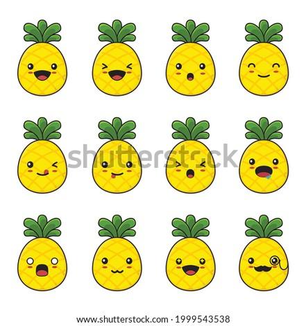 cute pineapple cartoon with