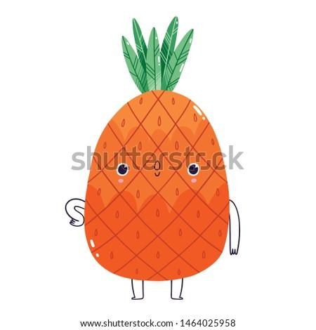 cute pineapple character