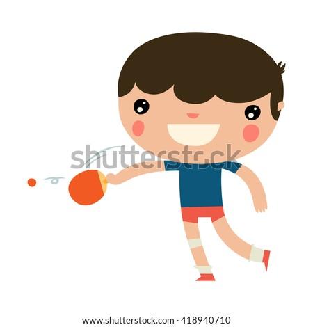 cute ping pong character
