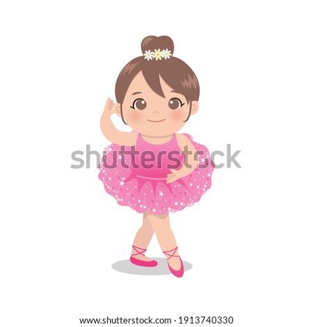 cute pink ballerina girl