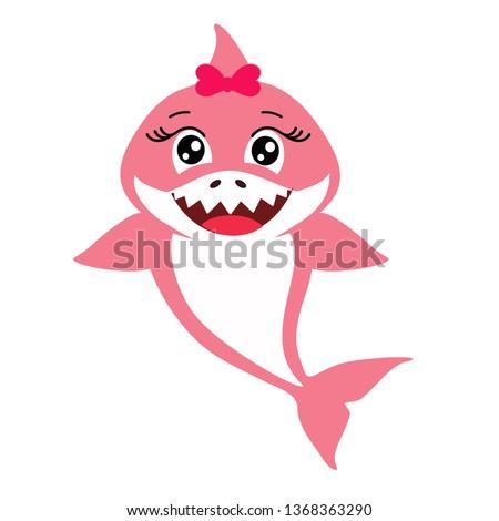 cute pink decorative baby shark