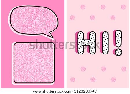 cute pink glitter texture