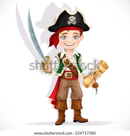 cute pirate boy with cutlass