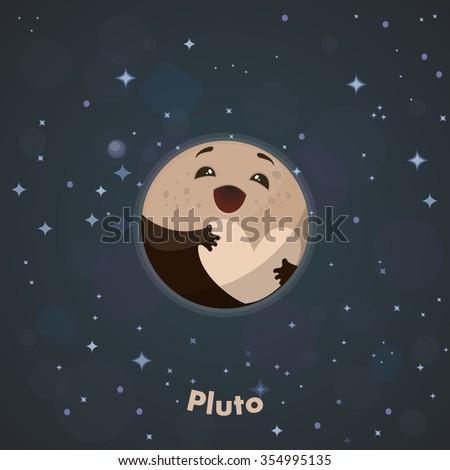 Cute Pluto Stock Vector 354995135 : Shutterstock