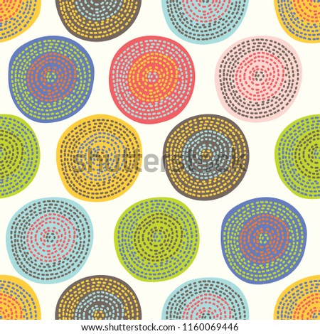 Cute polka dot. Vintage vector seamless pattern.