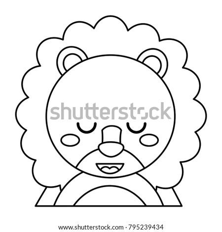 cute portrait lion animal baby