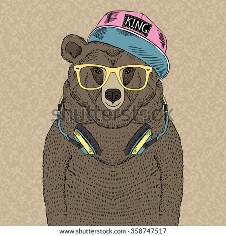 cute portrait of bear with