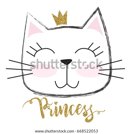 cute princess cat with a
