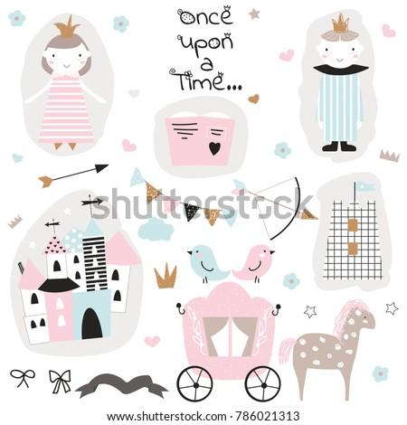 cute princess doodle collection