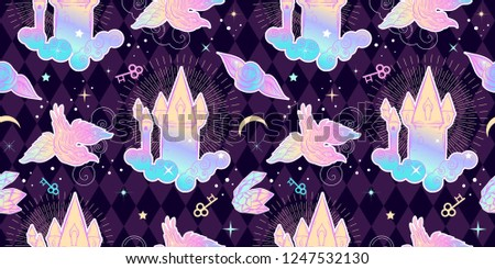 cute princess pattern with