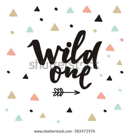 cute print boho style wild one