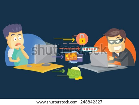 Cute printer vector cartoon character