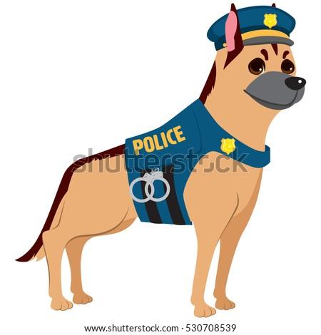 cute professional police dog