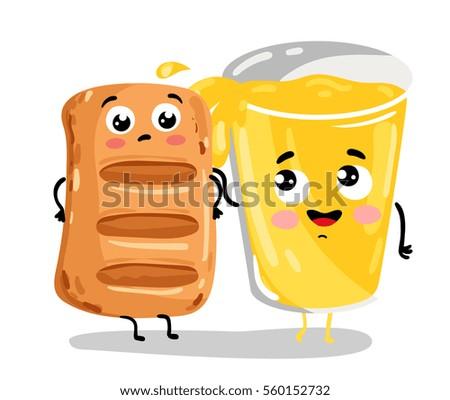 cute puff pastry and lemonade