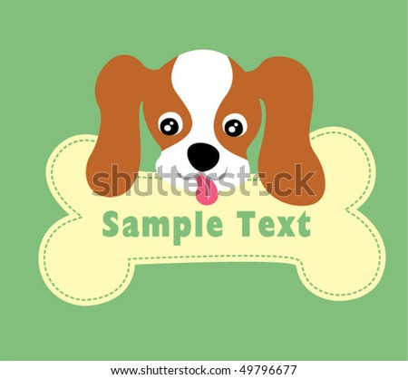 cute puppy bone board