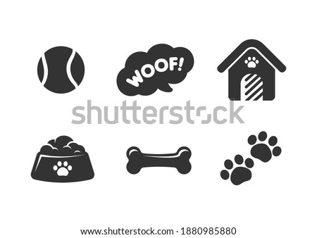 cute puppy or dog themed icons
