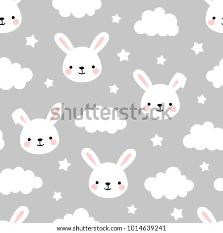 cute rabbit seamless pattern